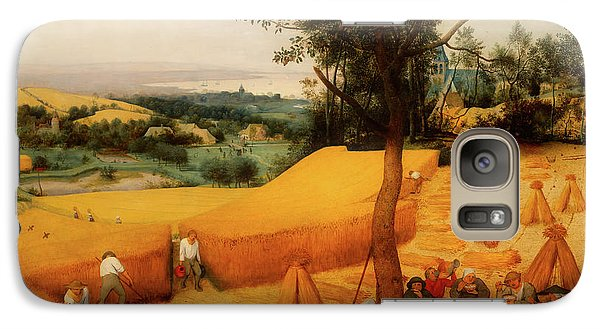 Galaxy Case featuring the painting The Harvesters by Pieter Bruegel The Elder