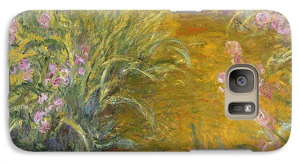 The Path Through The Irises Galaxy Case by Claude Monet