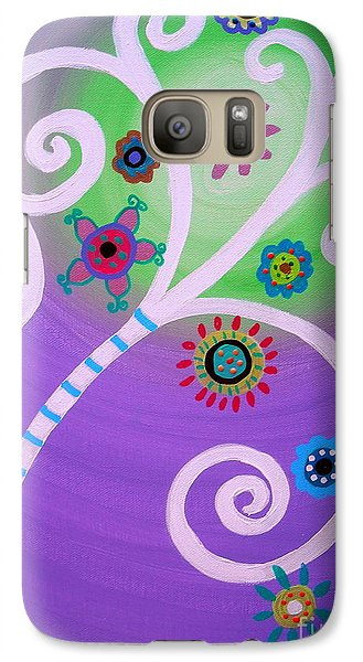 Galaxy Case featuring the painting Tree Of Life by Pristine Cartera Turkus