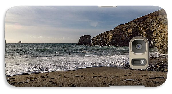 Galaxy Case featuring the photograph Trevellas Cove Cornwall by Brian Roscorla