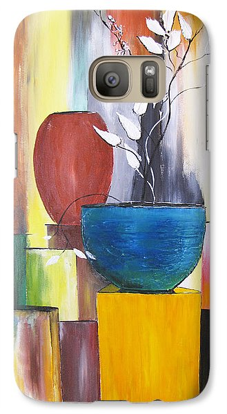 Galaxy Case featuring the painting 3 Vases by Gary Smith