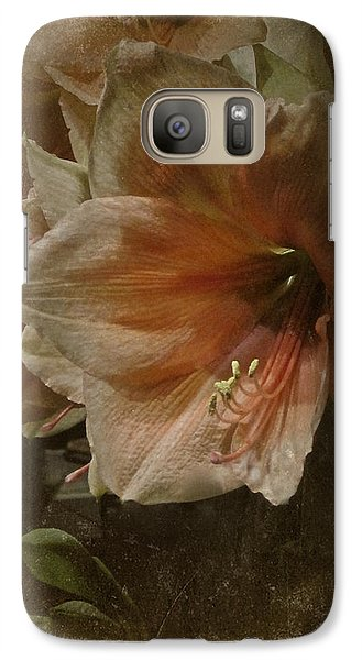 Galaxy Case featuring the photograph Vintage Amaryllis by Richard Cummings