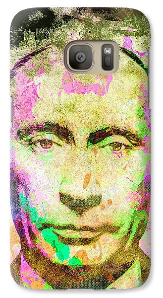 Galaxy Case featuring the mixed media Vladimir Putin by Svelby Art