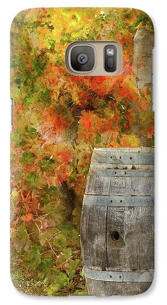 Wine Barrel In Autumn Galaxy S7 Case