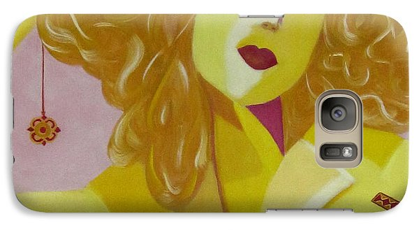Galaxy Case featuring the painting Yellow Hat by Patricia Cleasby