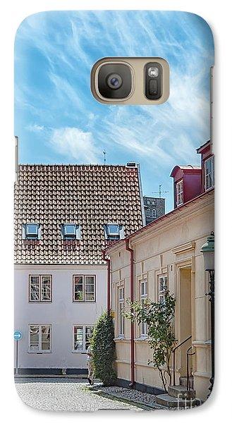 Galaxy Case featuring the photograph Ystad Street Scene by Antony McAulay