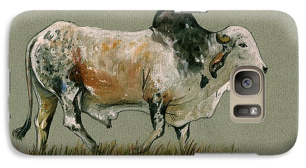 Zebu Cattle Art Painting Galaxy S7 Case