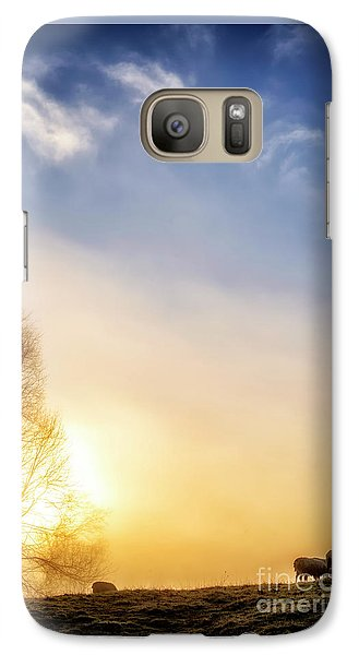 Galaxy Case featuring the photograph Misty Mountain Sunrise by Thomas R Fletcher