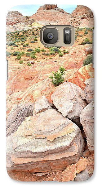 Galaxy Case featuring the photograph Multicolored Sandstone In Valley Of Fire by Ray Mathis