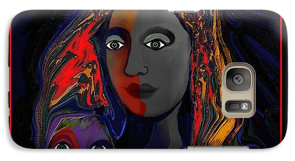 Galaxy Case featuring the digital art 381- Child Keep Your Mouth Shut 2017 by Irmgard Schoendorf Welch