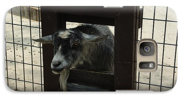 Galaxy Case featuring the photograph 3d Tv Goat 1 by Robyn Stacey