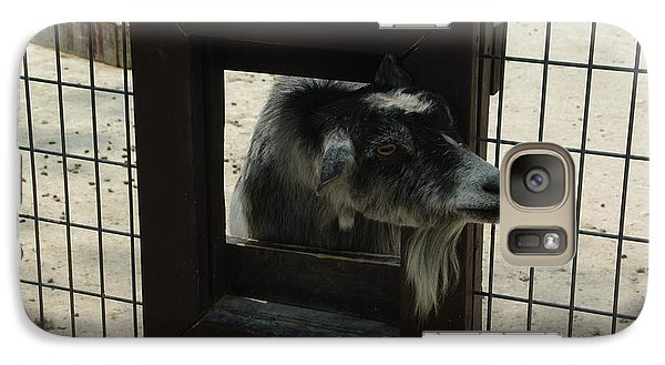 Galaxy Case featuring the photograph 3d Tv Goat 2 by Robyn Stacey