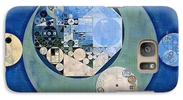 Galaxy Case featuring the photograph Abstract Painting - Bermuda Grey by Vitaliy Gladkiy