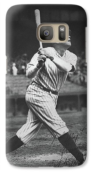 New York Yankees Galaxy S7 Case - Babe Ruth  by American School