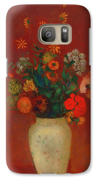 Galaxy Case featuring the painting Bouquet In A Chinese Vase by Odilon Redon