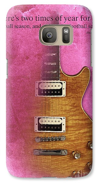 Darius Rucker Inspirational Quote, Electric Guitar Poster For Music Lovers And Musicians Galaxy S7 Case by Pablo Franchi