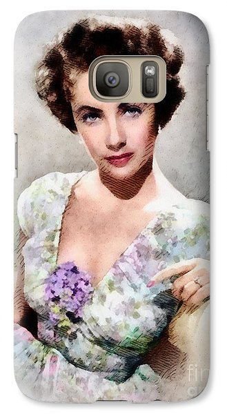 Elizabeth Taylor, Vintage Hollywood Legend Galaxy S7 Case