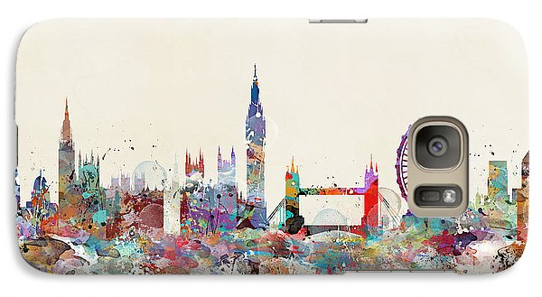 London Eye Galaxy S7 Case - London City Skyline by Bleu Bri