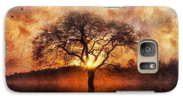 Galaxy Case featuring the digital art Lone Tree by Ian Mitchell