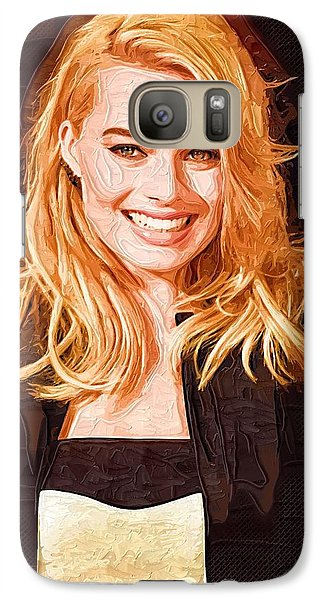 Orlando Bloom Galaxy S7 Case - Margot Robbie Painting by Elizabeth Simon
