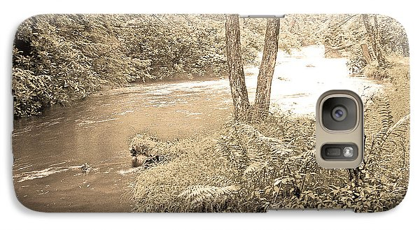 Galaxy Case featuring the photograph Mud Run Pocono Mountain Stream Pennsylvania by A Gurmankin