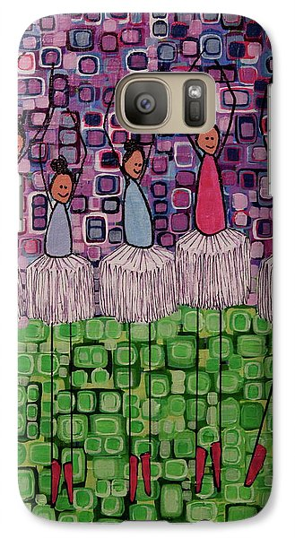 Galaxy Case featuring the painting 4 Non-blondes by Donna Howard