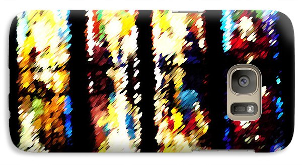 Galaxy Case featuring the digital art 4 Panels Of Seville Abstract by Donna Corless