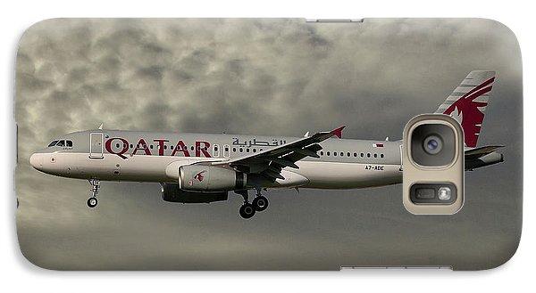 Jet Galaxy S7 Case - Qatar Airways Airbus A320-232 by Smart Aviation