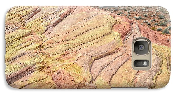 Galaxy Case featuring the photograph Ripples Of Color In Valley Of Fire by Ray Mathis