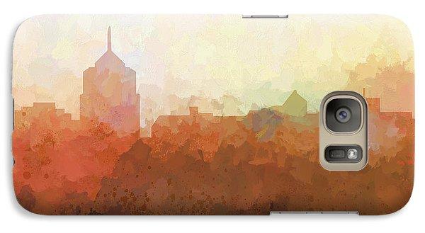 Galaxy Case featuring the digital art Roanoke Virginia Skyline by Marlene Watson