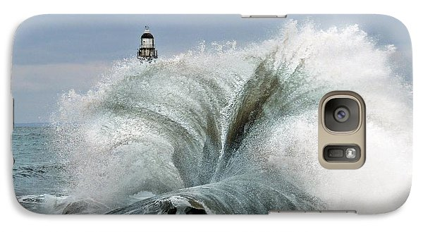 Galaxy Case featuring the photograph Roker Pier Sunderland by Morag Bates