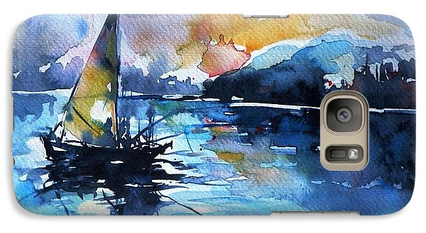 Galaxy Case featuring the painting Sailboat by Kovacs Anna Brigitta