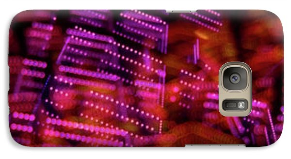 Galaxy Case featuring the photograph Singapore Night Urban City Light - Series - Your Singapore by Urft Valley Art