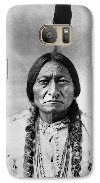 Bull Galaxy S7 Case - Sitting Bull 1834-1890. To License For Professional Use Visit Granger.com by Granger