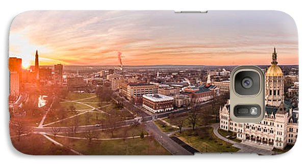 Galaxy Case featuring the photograph Sunrise In Hartford, Connecticut by Petr Hejl