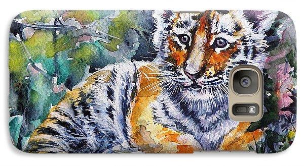 Galaxy Case featuring the painting Tiger Cub by Kovacs Anna Brigitta