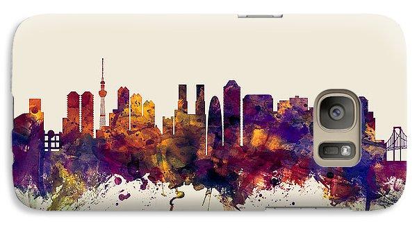 Tokyo Skyline Galaxy S7 Case - Tokyo Japan Skyline by Michael Tompsett