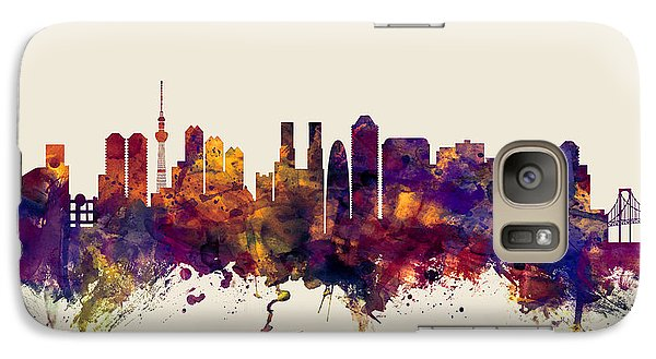 Tokyo Japan Skyline Galaxy Case by Michael Tompsett