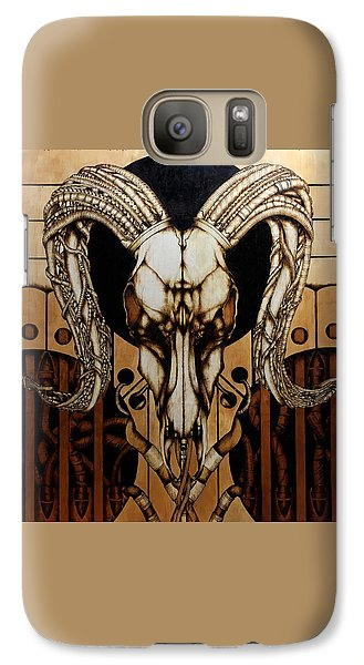 Galaxy Case featuring the pyrography Untitled by Jeff DOttavio