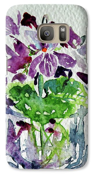 Galaxy Case featuring the painting Violet by Kovacs Anna Brigitta