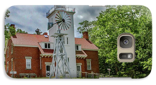 Galaxy Case featuring the photograph 40 Mile Point Lighthouse by Bill Gallagher