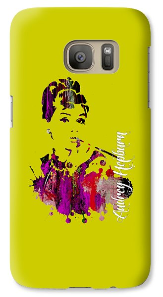 Audrey Hepburn Collection Galaxy Case by Marvin Blaine