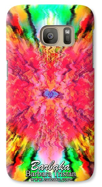 Galaxy Case featuring the mixed media 444 Loves Vibration by Barbara Tristan