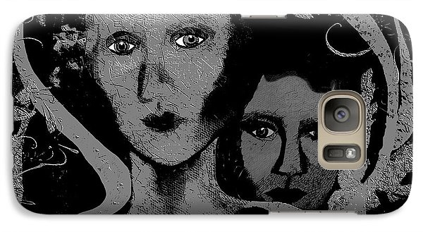 Galaxy Case featuring the digital art 450 - Get Off My Back 2017 by Irmgard Schoendorf Welch