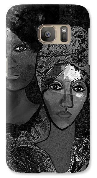 Galaxy Case featuring the digital art 452 - Secrets Of Friendship by Irmgard Schoendorf Welch