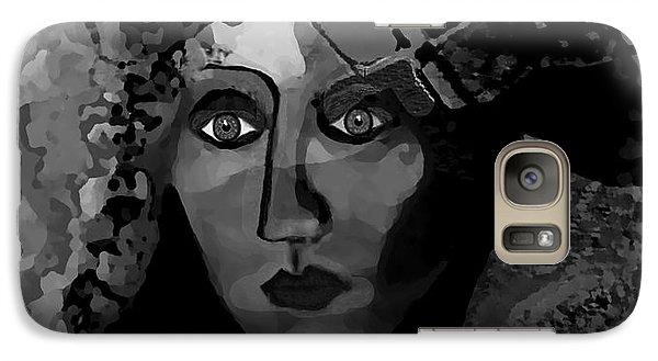 Galaxy Case featuring the digital art 455 - Dark Dreamer by Irmgard Schoendorf Welch