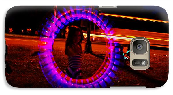 Galaxy Case featuring the photograph 4th Of July - Glow Sticks On A String by George Bostian