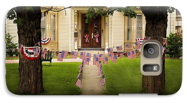 Galaxy Case featuring the photograph 4th Of July Home by Craig J Satterlee