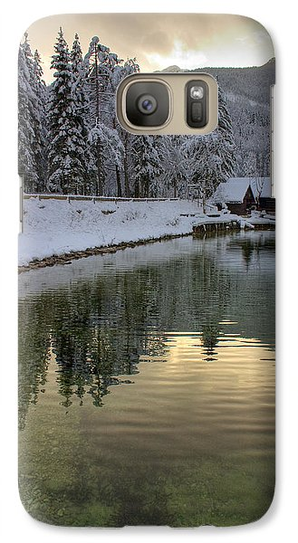 Galaxy Case featuring the photograph Alpine Winter Reflections by Ian Middleton