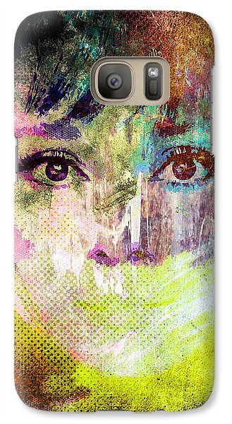 Galaxy Case featuring the mixed media Audrey Hepburn by Svelby Art
